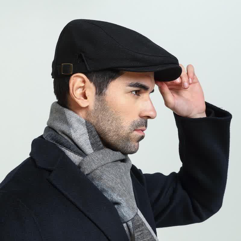 Male Plus Size Ivy Hat Big Head Man Spring Summer and Autumn Newsboy Cap Top Grade Linen Beret Caps
