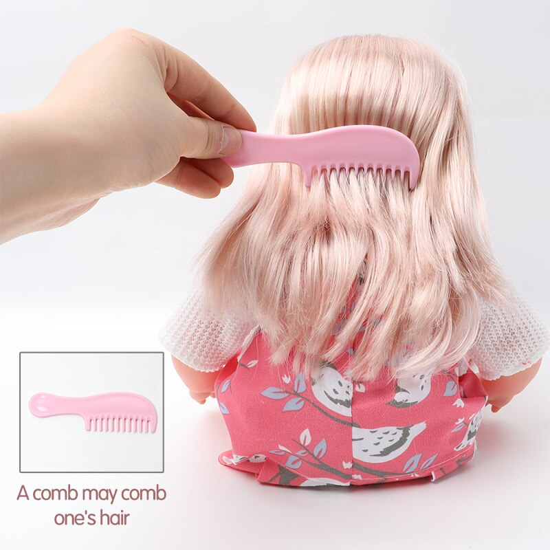 36cm lifelike long hair Bebe reborn doll Can make 12 sounds Newborn baby doll 14 inch soft silicone education gifts for girls