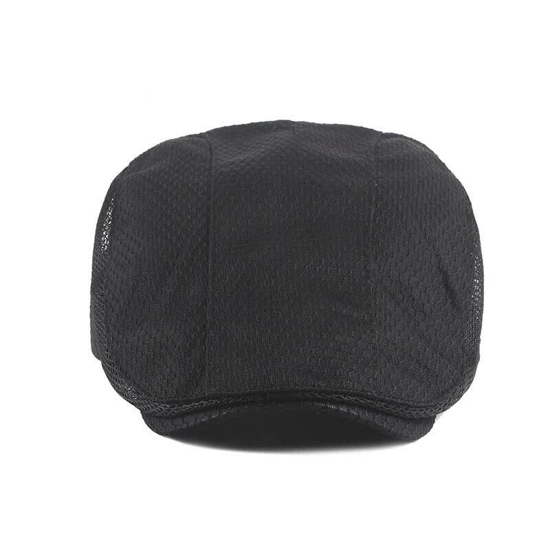 New High Quality Men Newsboy Hat Retro Cabbie Flat Cap Summer Patchwork Hollow Newsboy Caps Male Detective Hats