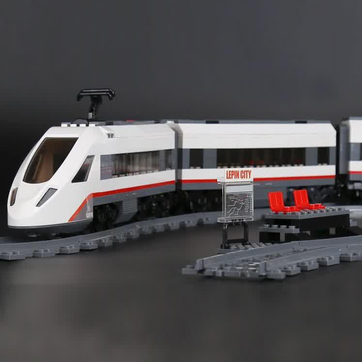Technic City Building Block High-speed Passenger Train Model Bricks Toys