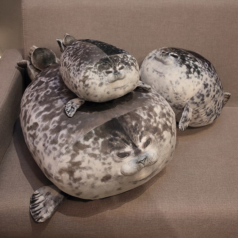 NEW 80cm Giant Seal Lifelike Grey Sea Lion Aquatic Animal Soft Stuffed Doll Plushie Gift