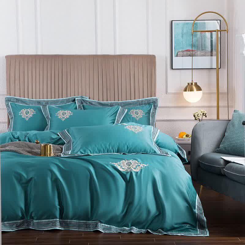 Long-staple Cotton Twin Queen King Size Fitted Sheet Bedding Set Family
