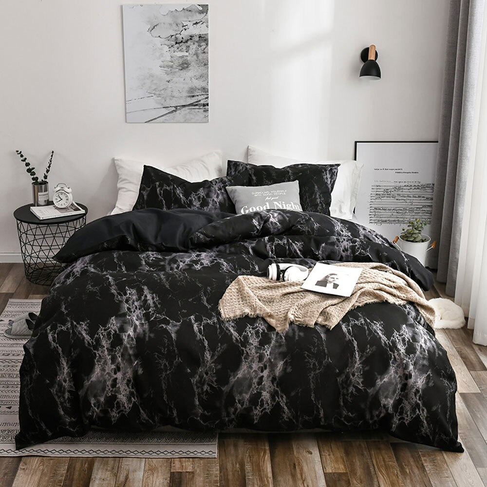 Marble Bedding Set with Duvet Cover Fitted Sheet Pillowcase Super soft smooth for Mattress Protector Quilt
