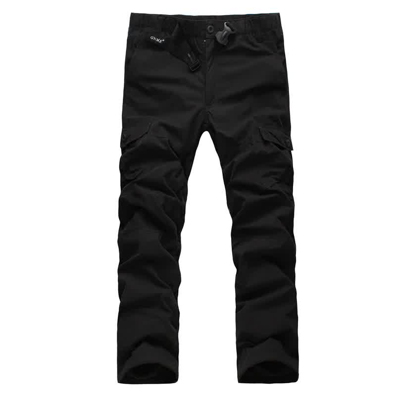 Men's Double Layer Cargo Pants Warm Baggy Pants Fleece Thickness Trousers Male Military Camouflage Tactical Waterproof Army Pant