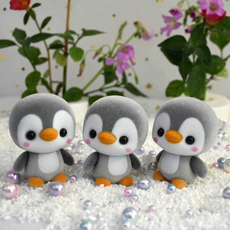 5.5CM Super Cute Flocking Penguin Doll  Mini Action Figure Decoration Toys For Children Girls Exquisite Toy Christmas Gift