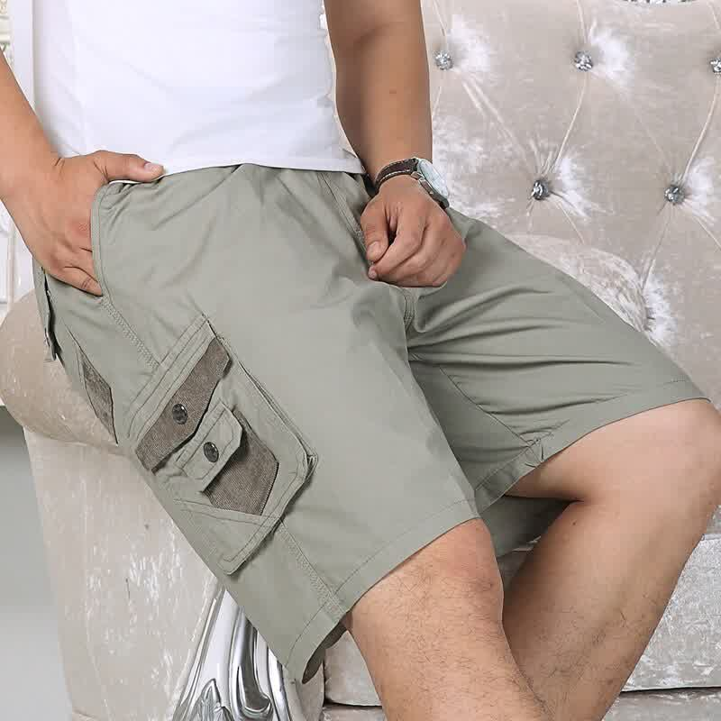 Men's Big Size Casual Shorts From 29 to 48 Inch with High Quality in Three Colors Pure Cotton  5 colors Overalls Pockets on Sale