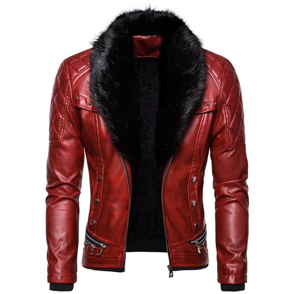 Autumn and Winter New High Quality Men Stand Colla...