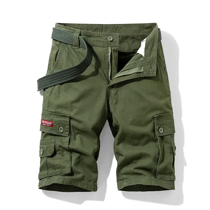 New Men Cargo Shorts 100% Cotton 6 Pockets Shorts ...