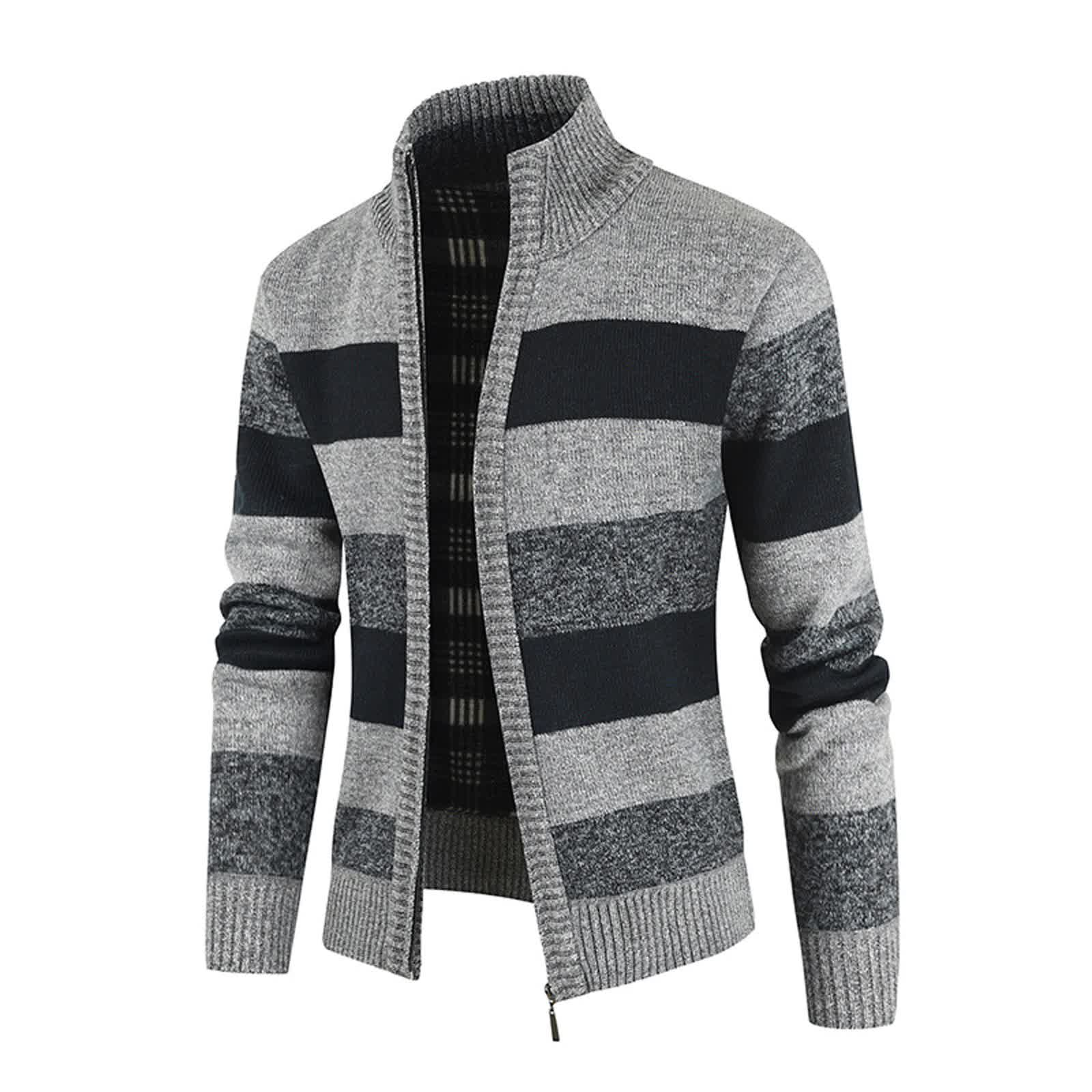 Autumn Opener Zipper Men's Sweater Thickened and V...