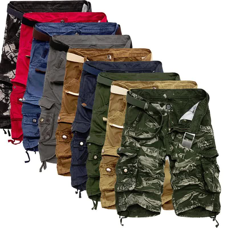 Mens Military Cargo Shorts New Army Camouflage Tac...