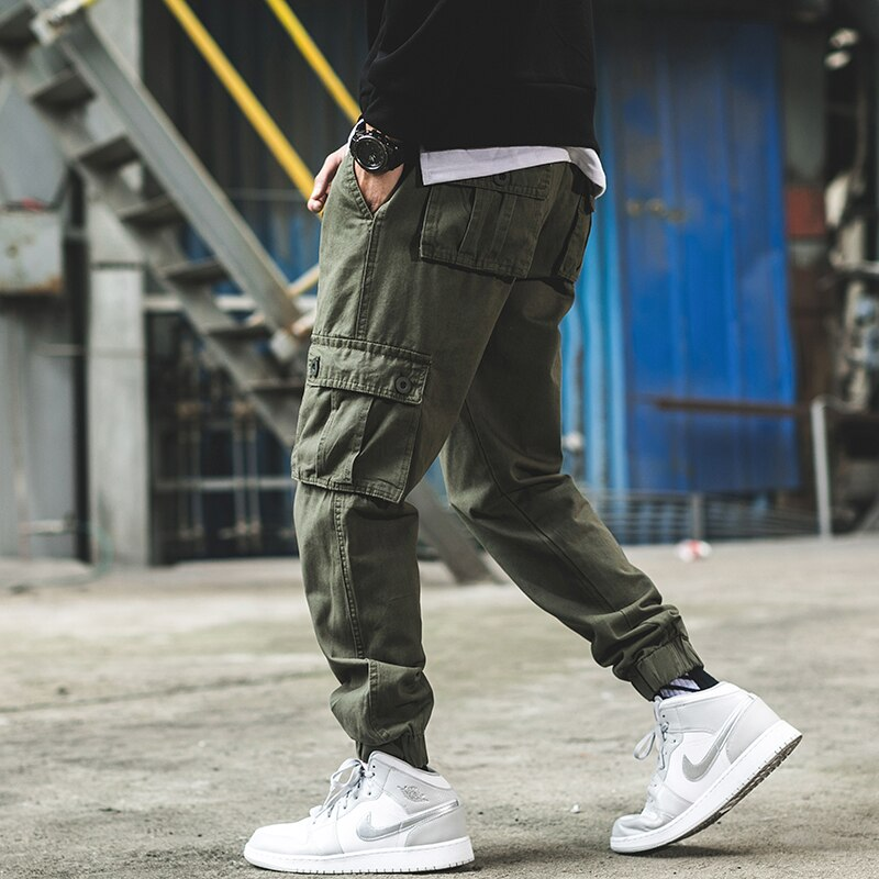 Casual Pants Men Military Tactical Joggers Camouflage Cargo Pants Multi-Pocket Fashions Khaki Army Trousers