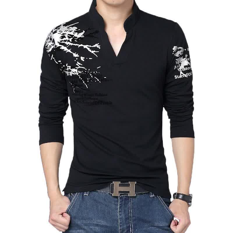 Hot Sale New Autumn Men's T Shirt Fashion Flower P...