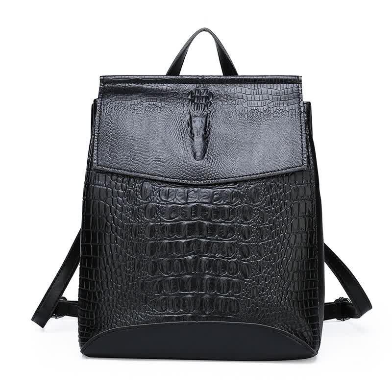 Fashion Lady High Quality Backpack Women Crocodile...