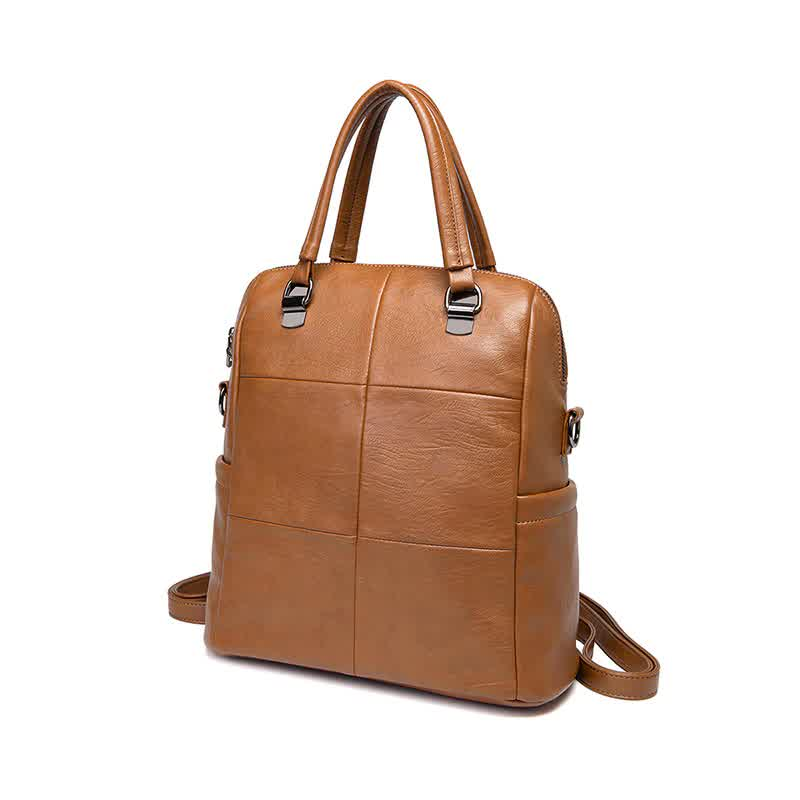 New High Quality Backpack Leather School Fashion Waterproof Travel Bag