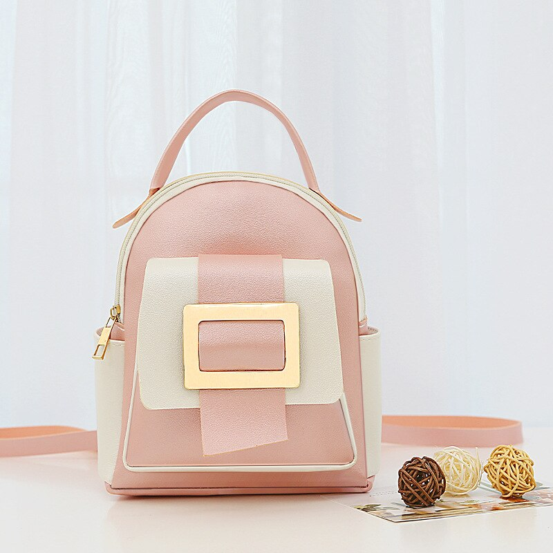 Big Capacity Women Backpack Fashion Color Matching Small Backpack