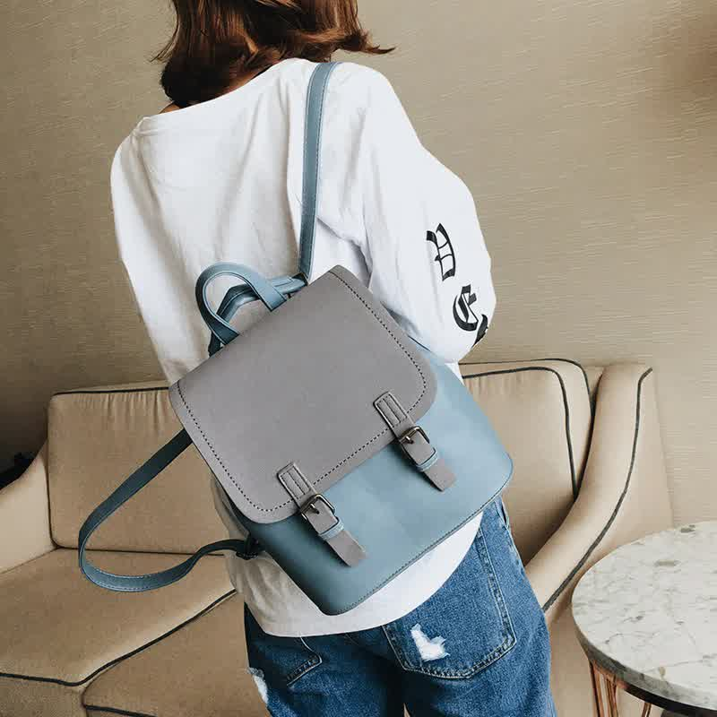 Mini Backpack Women PU Leather Shoulder Bag For Teenage Girls