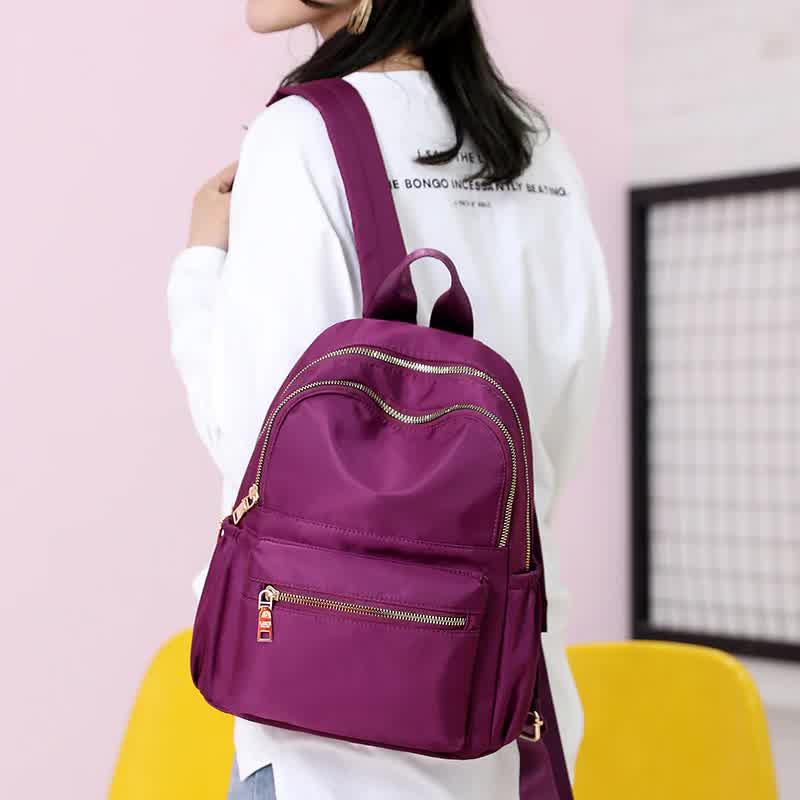 Casual Oxford Women Backpack Black Waterproof Nylon School Bags
