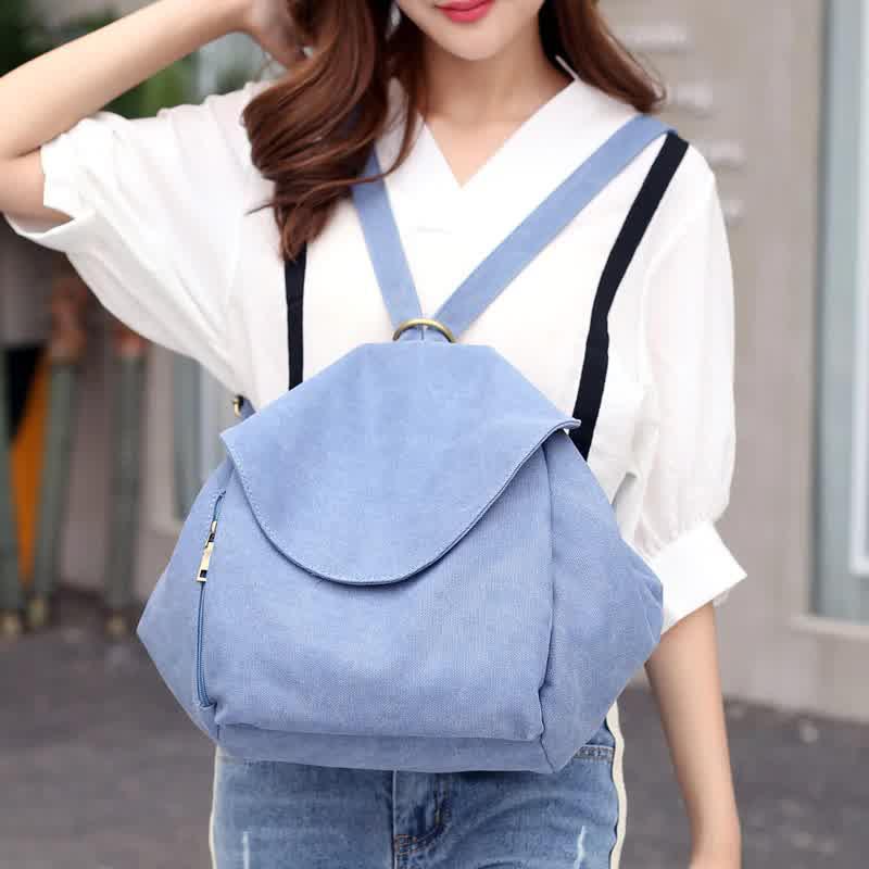 New Korean Style Women Backpacks Female Fresh Zipper&Hasp Shoulder Bags