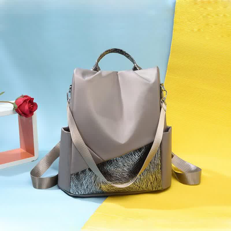 Women Anti-Theft Backpack Ladies Sequins Female Larger Capacity School Shoulder Bag