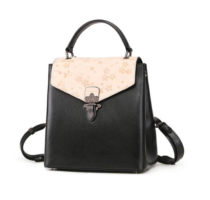 Women Genuine Leather Bpckpack Fashion Real Cowhide Leather Bags
