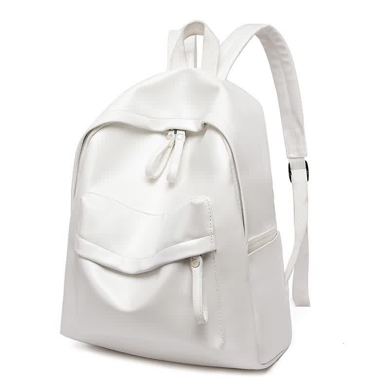 Backpack Women PU Leather Large Capacity Travel Backpacks