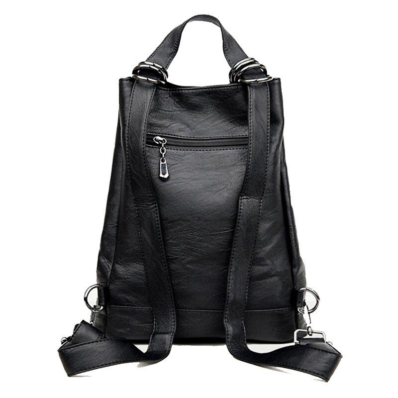Backpack Women Leather School Bags For Teenage Girls